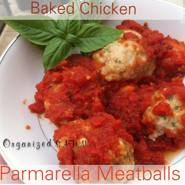 Baked Chicken Parmarella Meatblls with Sauce