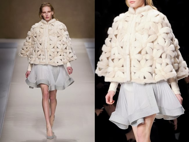 Blumarine 2013 AW Cream-Colored Poncho