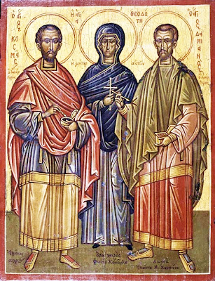 Sts. COSMAS & DAMIAN and their Mother Theodota