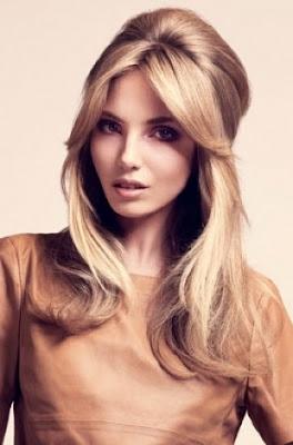 peinado de fiesta cabello ondulado