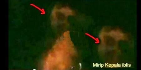 Foto Iblis Pada Letusan Gunung Kelud