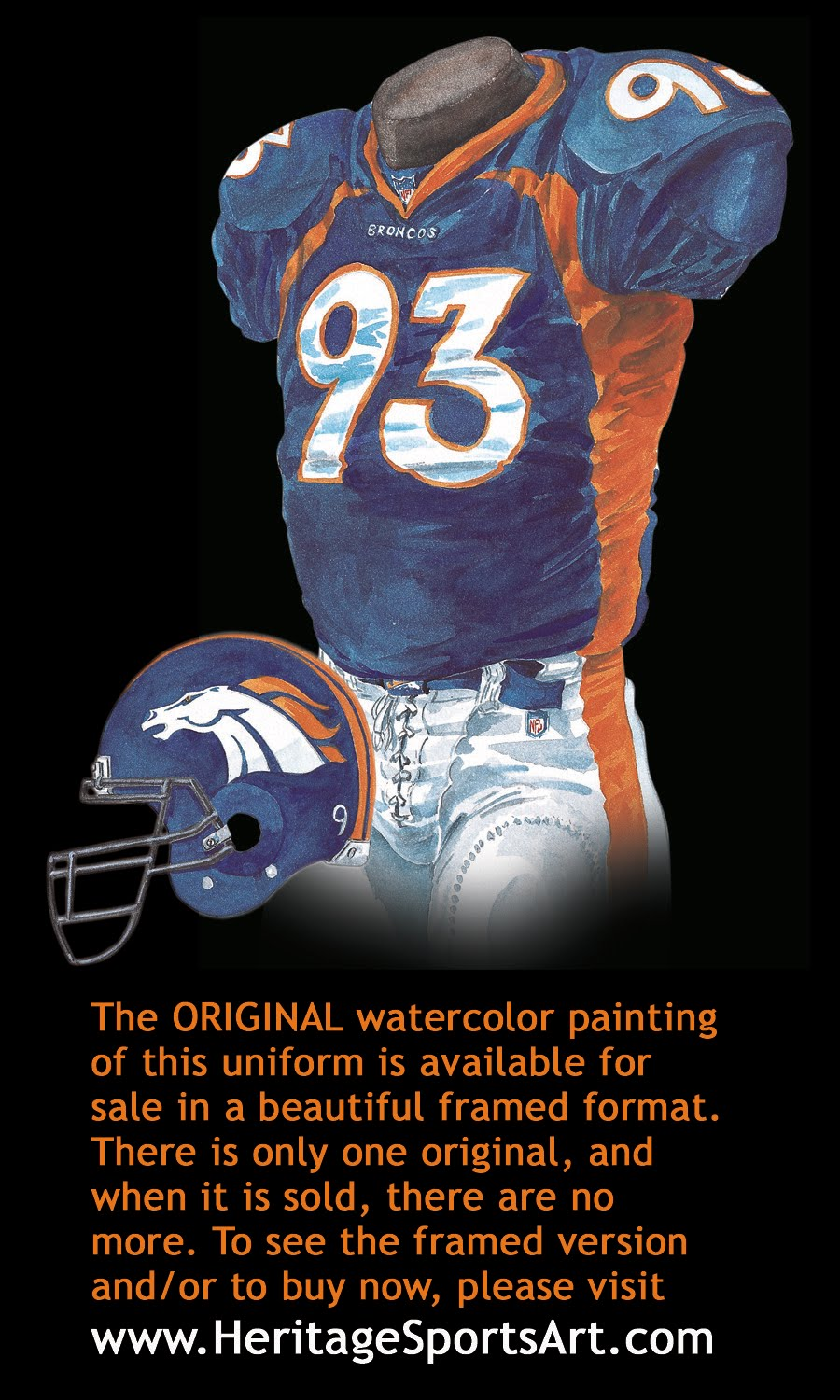 Denver Broncos Uniform and Team History | Heritage Uniforms and Jerseys
