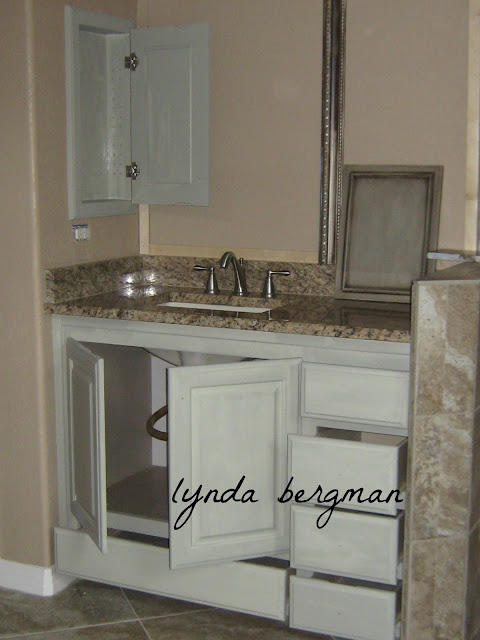 Lynda Bergman Decorative Artisan Painting A Special Aged Finish On Cabinets For Debbie 39 S Master