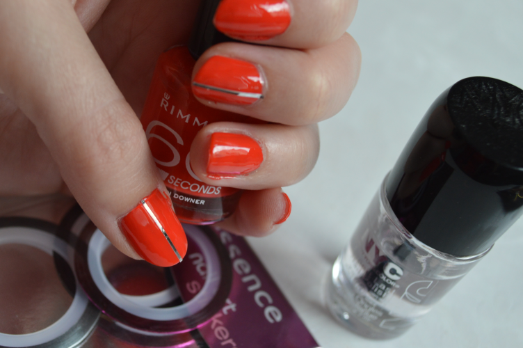 manicure, nails, orange, Rimmel, essence, NYC, cosmetics