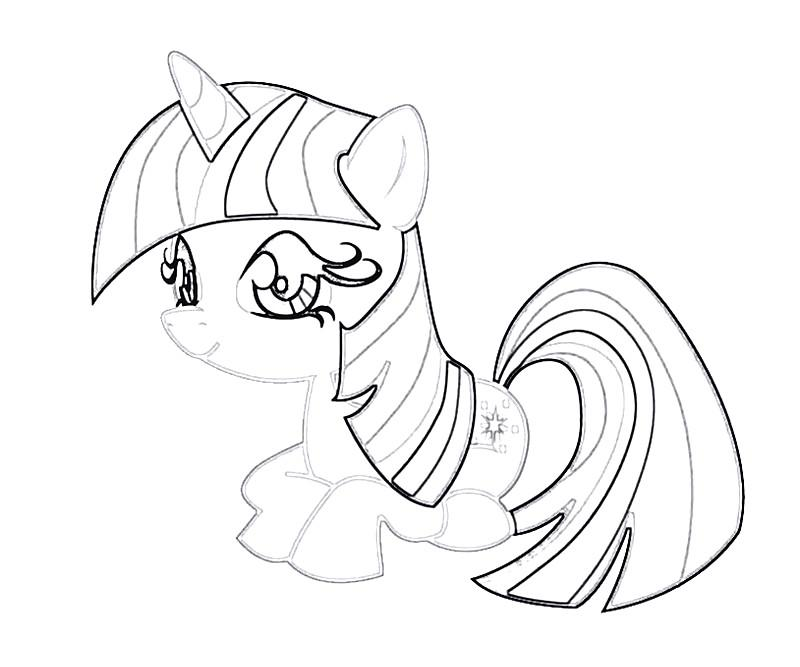 #28 Twilight Sparkle Coloring Page