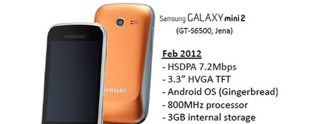 Leaked Samsung Galaxy Mini 2