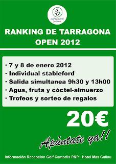 Ranquing P&P Tarragona - Prova al P&P Cambrils