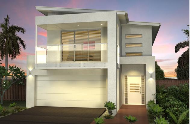 Narrow lot double storey homes plans House design ideas