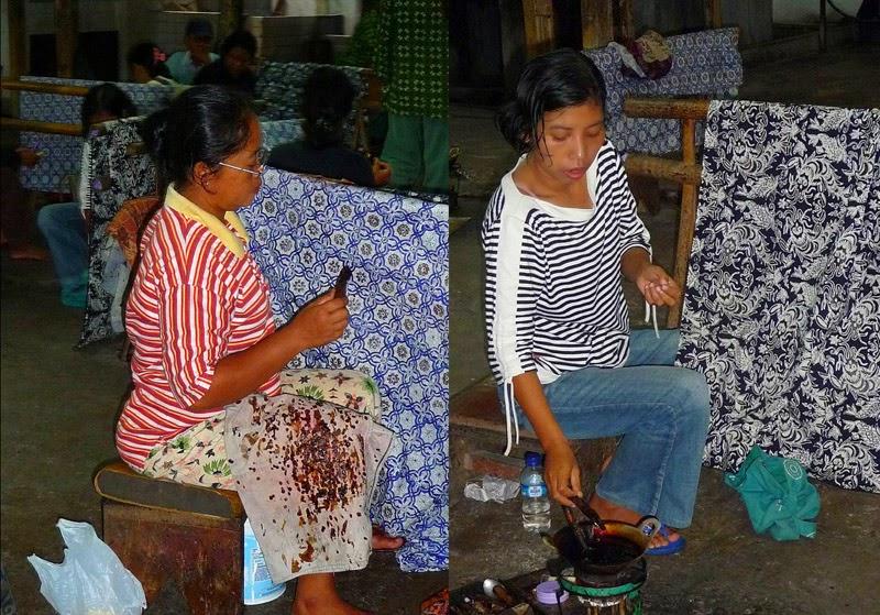 Fabrication du Batik - Indonésie