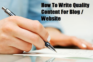 How To Write High-Quality Content For Your Blog