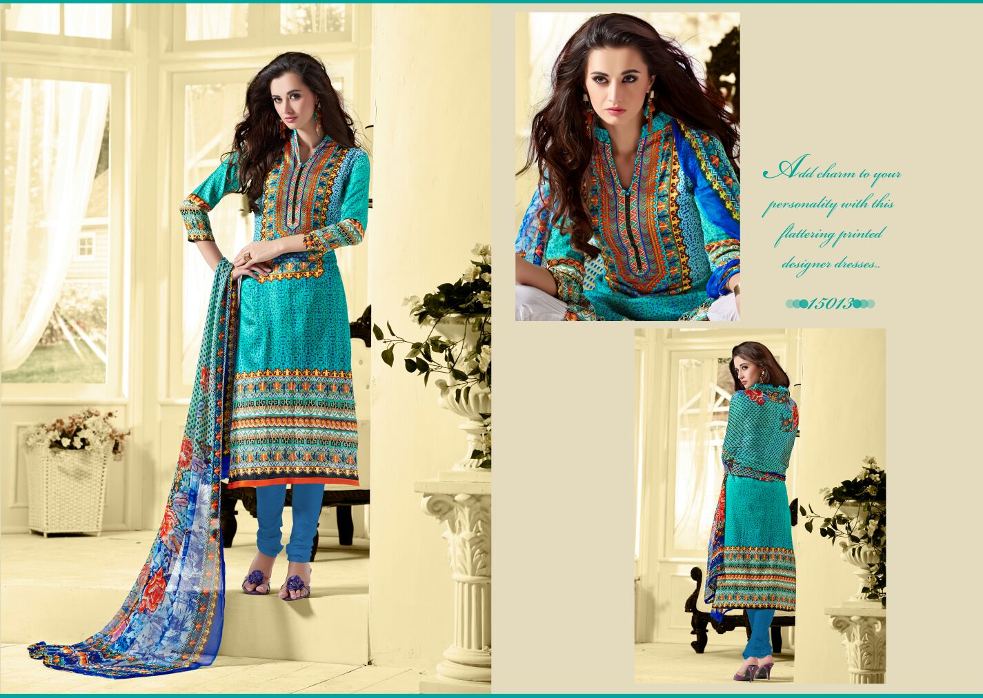 Sadia – Designer Cotton Embroidered Churidar Salwar Suit