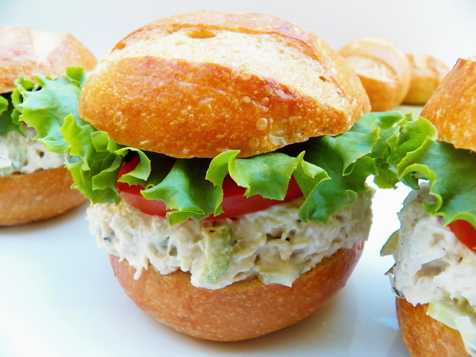 Chicken Salad Sandwich with Garlic and Herbs Cheese | In Good Flavor ...