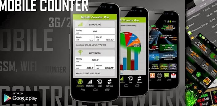 Mobile Counter Pro - 3G, WIFI v3.3.7 Apk Full