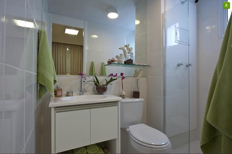 Apartamentos Decorados  Inspirações  Comprando Meu Apê  Comprando Meu Apê -> Meu Banheiro Pequeno Decorado