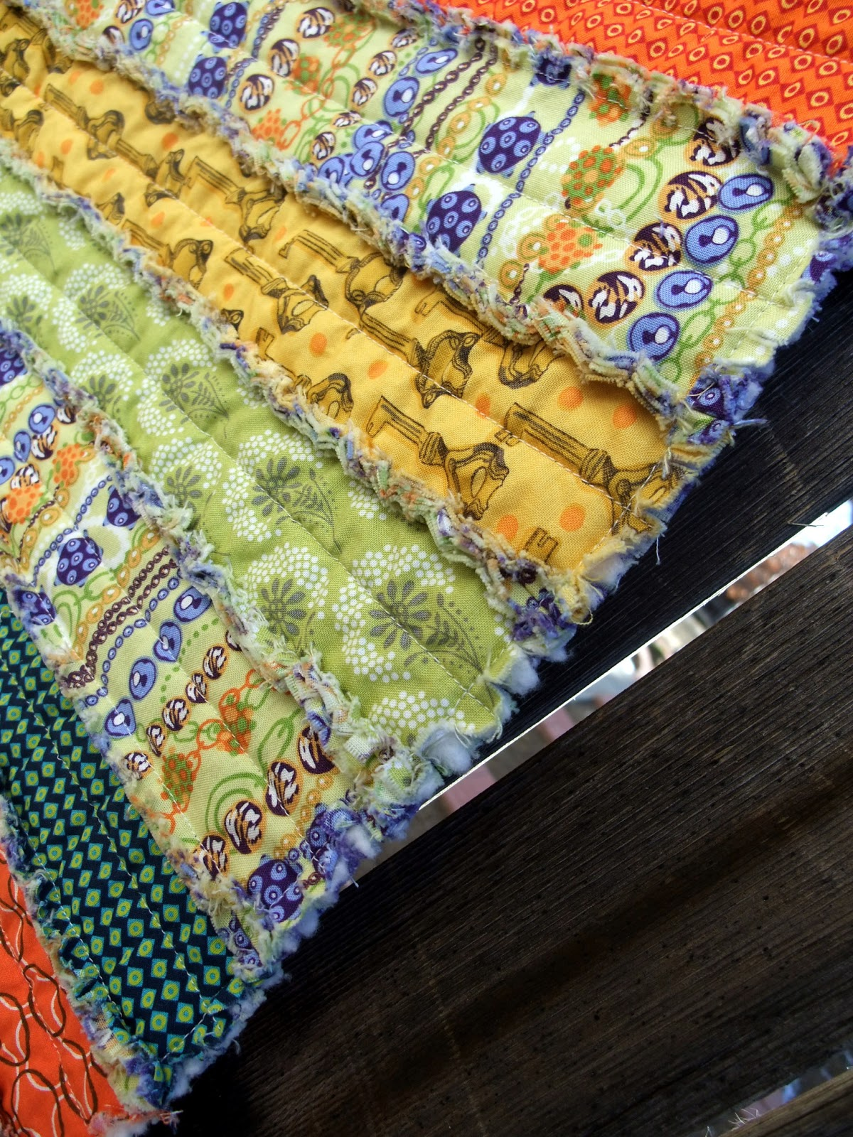 Just Another Hang Up Quot Rag Quilted Table Runner Quot Tutorial