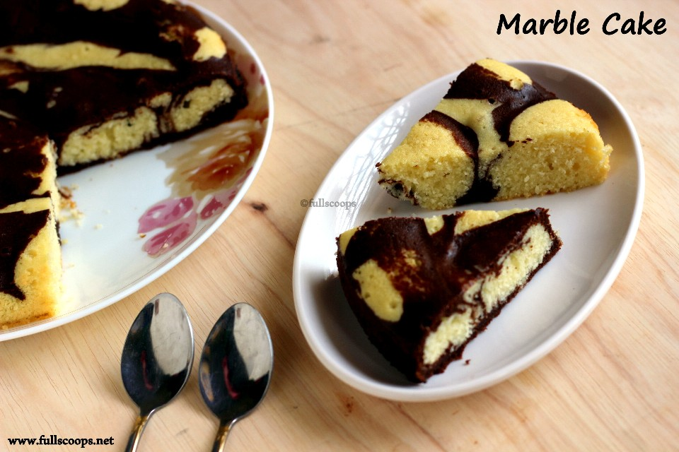 Marble Cake Using Yellow Cake Mix