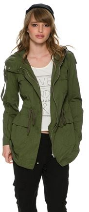Swell wilderness jacket, Swell army fall coat, green army jackets 2014 fall, cutest army jackets, affordable army coats, trendy cargo jacket