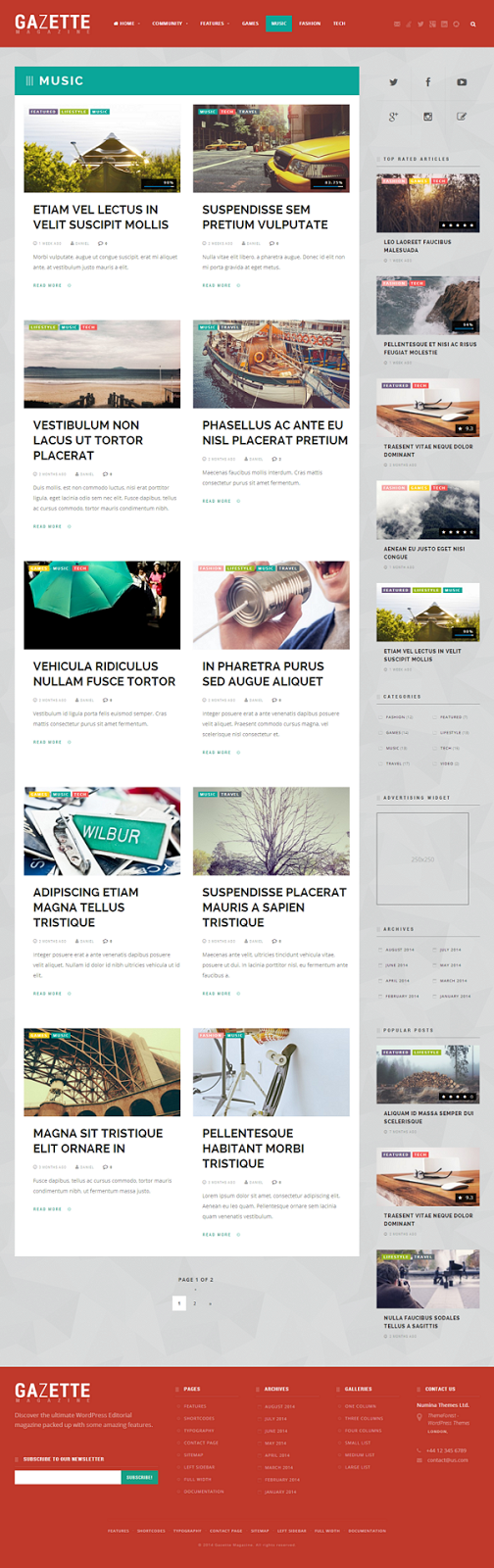 free responsive news website theme