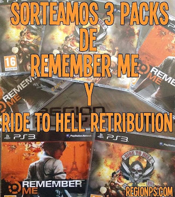 Sorteo de 3 packs de 2 juegos (Remenber Me y Ride to hell Retribution)