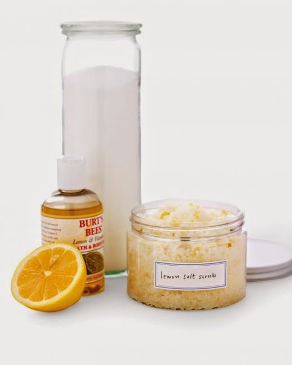 lemon salt scrub martha stewart