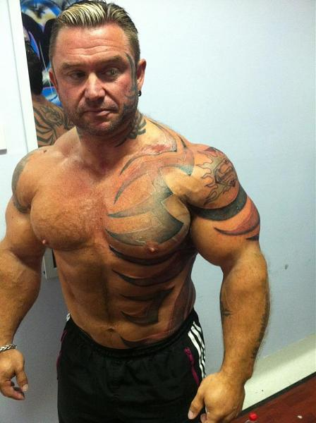lee priest tattooes bnn mustache