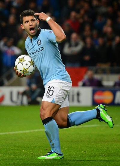 Sergio Aguero Manchester City Striker 2013