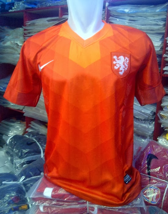 Jersey Grade Ori Belanda Home World Cup 2014