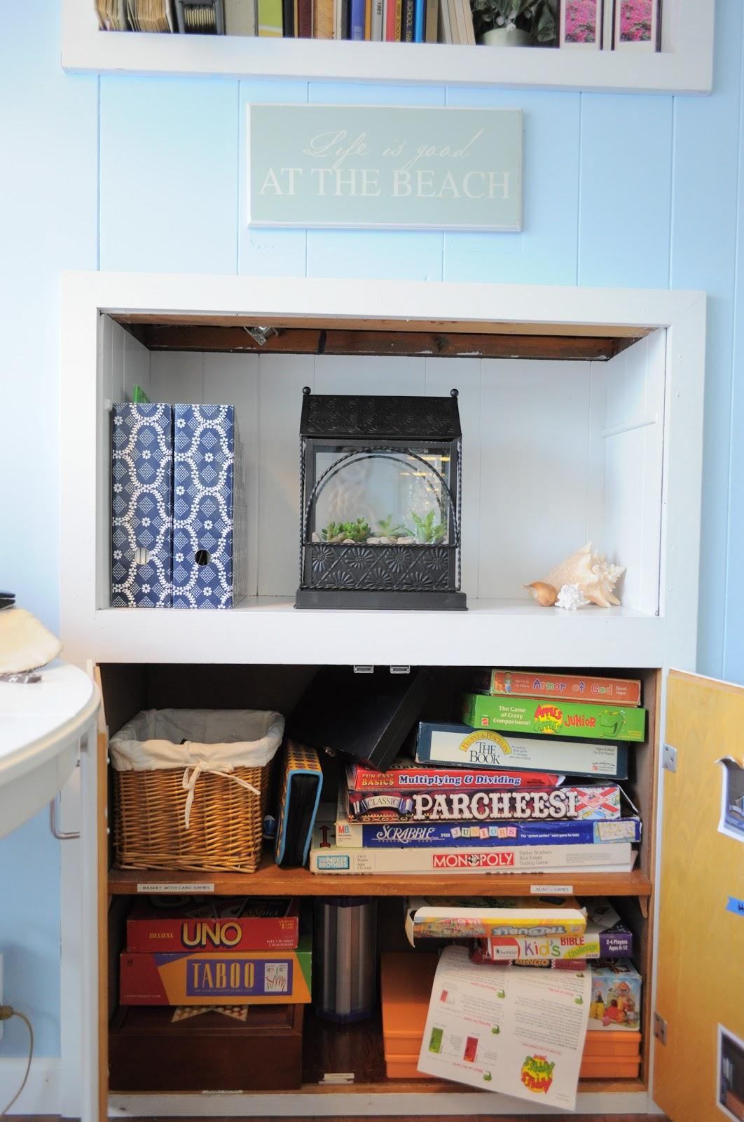How I Organize: Game Cupboard