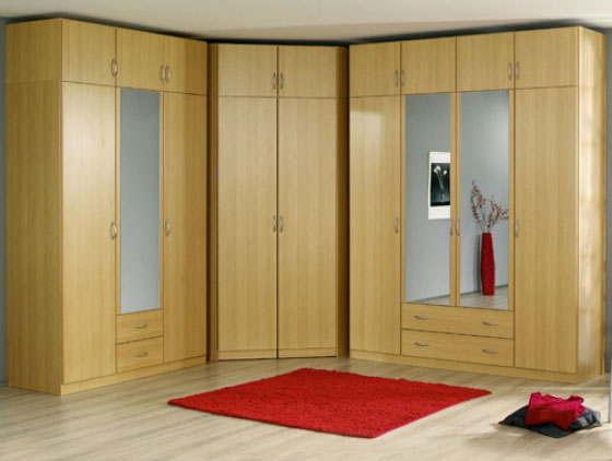 Large Corner Bedroom Wardrobe Design