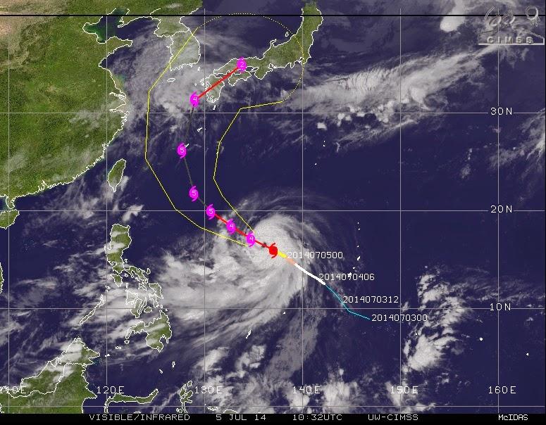 "tormenta tropical ""Neoguri"