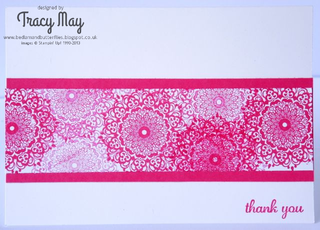 Stampin Up Demonstrator Happy Days Card Making Tracy May