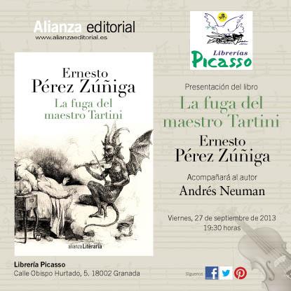 La fuga del maestro tartini septiembre 2013 - Libreria picaso granada ...