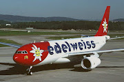 I saw am Edelweiss A330 flying overhead on my way to the winelands yesterday . (edelweiss)