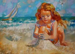 Retrato Infantil Niña Oleo