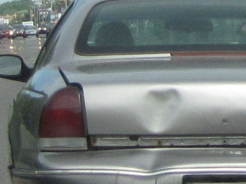 heart shaped dent