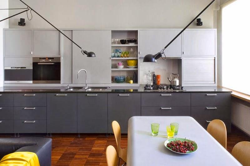 Small world of design Kolor i deseń Szara kuchnia -> Drewniana Kuchnia Gourmet World