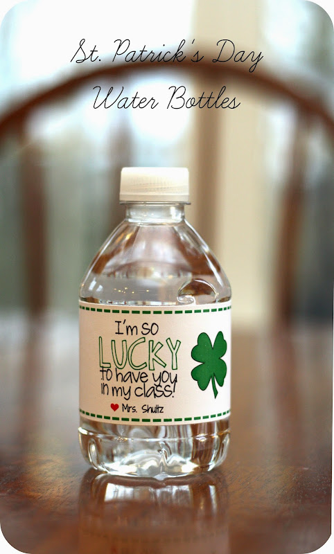 Personalized st. patrick's day water bottles