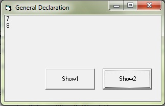Variable declaration in general declaration section