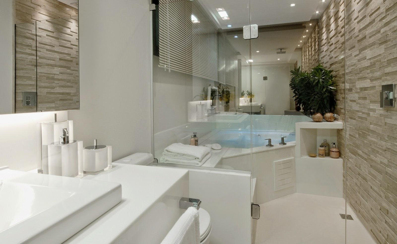 Banheiros claros branco e bege – veja modelos modernos e dicas!  Decor Salt -> Decoracao De Banheiro Pequeno Bege