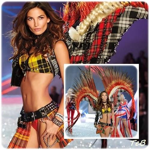 Chiude il segmento British Invasion la modella Lily aldrige, con un look ispirato al punk inglese. Lo stesso tema era stato il fulcro del MET GALA 2013