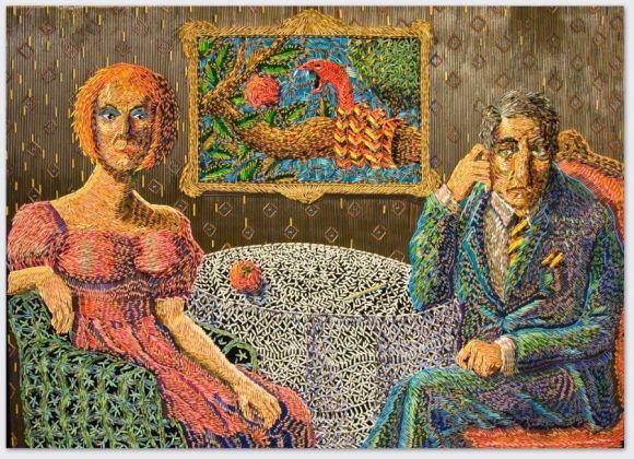 Federico Uribe pinturas feitas com lápis O encontro