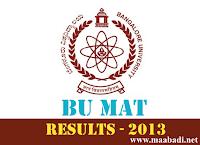 BU MAT 2013 Results