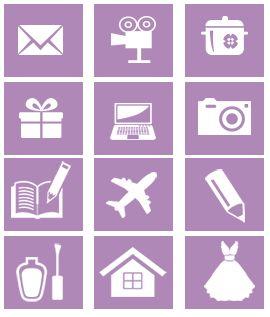 menu categorias personalizadas