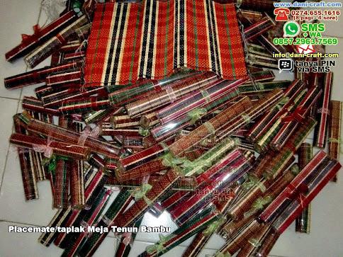 Placematetaplak Meja Tenun Bambu Bambu Lidi Purworejo