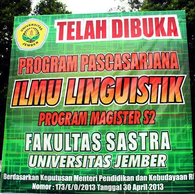 Fakultas Sastra, S2 Ilmu Linguistik