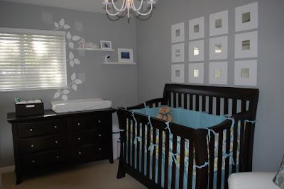 Dormitorio gris olores bebe