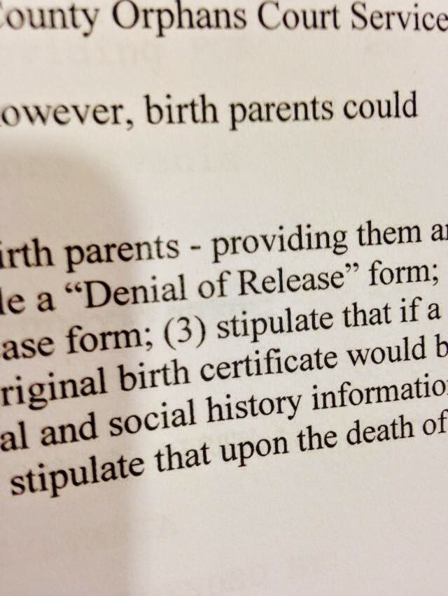 PA, Adoptee Rights, and an Amended Bill--What now?