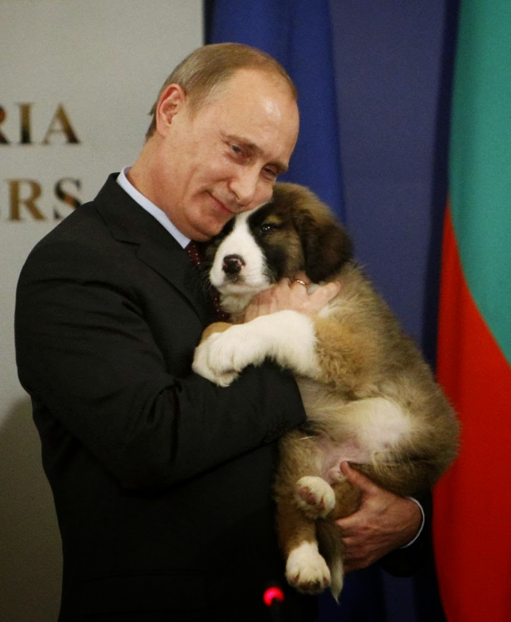 Russian President Vladimir Putin Hugging a Bulgarian Shepherd Puppy ... a5cd994c08c8