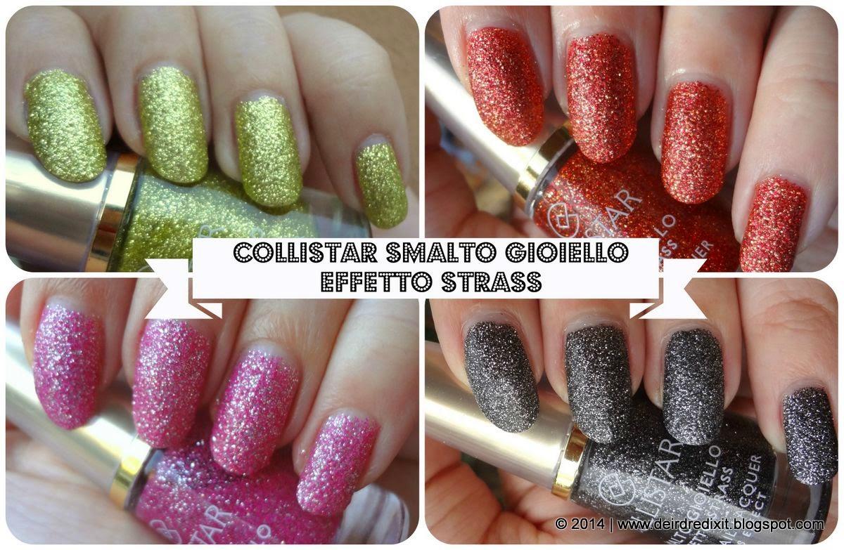 Smalti Collistar Effetto Strass: swatch colori 2014