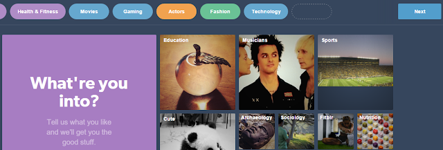 select tumblr categories